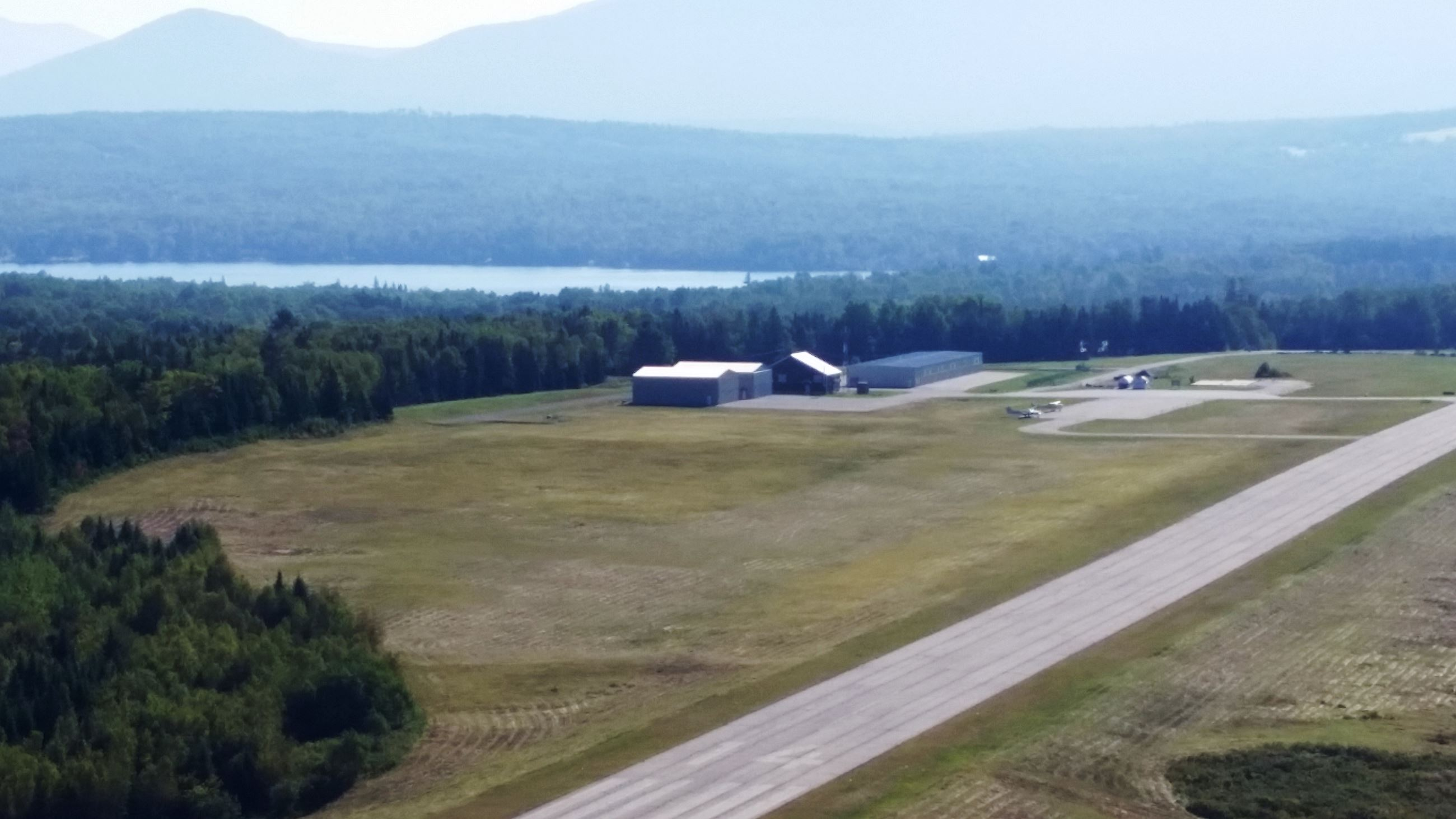 Hangars at the municipal airport