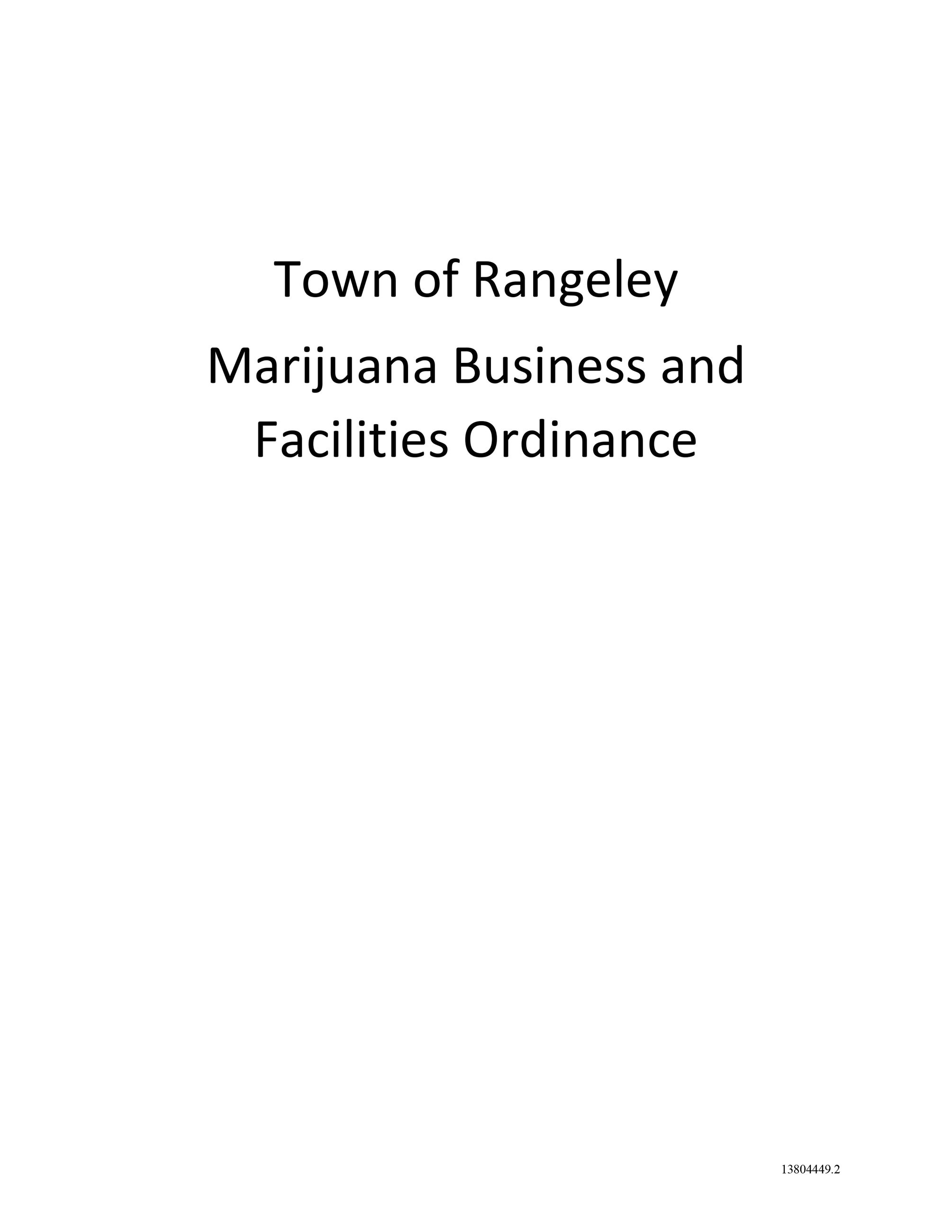 Marijuana Business and Facilities Ordinance-1