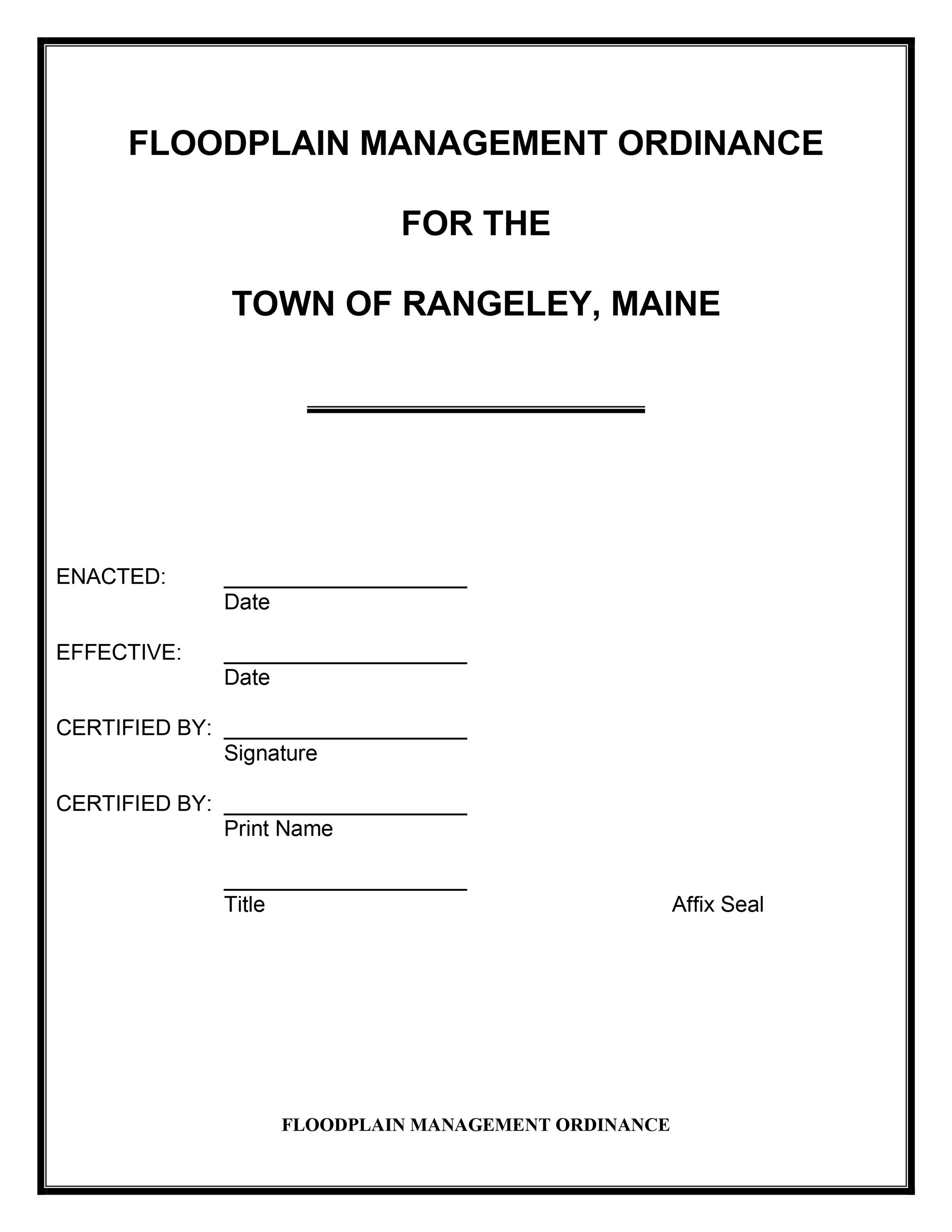 Floodplain Management Ordinance-1